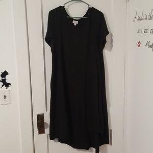 Solid black LuLaRoe Carly (Size 3X)